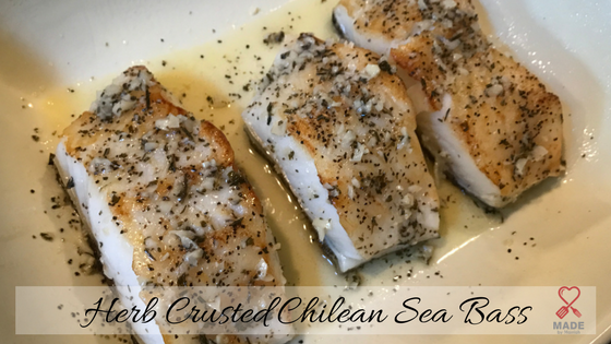 Herb Crusted Chilean Sea Bass