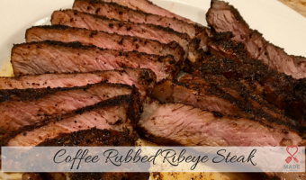 Coffee Rubbed Ribeye Steak