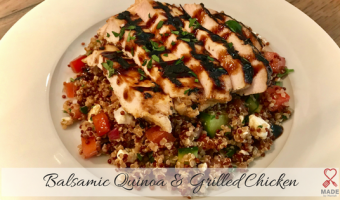 Balsamic Quinoa & Grilled Chicken Bowl
