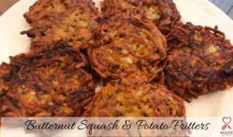 Butternut Squash and Potato Fritters
