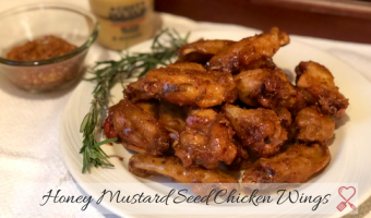 Honey Mustard Seed Chicken Wings