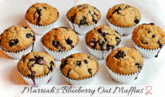 Marriah's Blueberry Oat Muffins