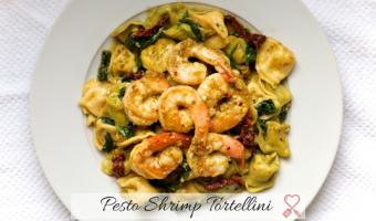 Pesto Shrimp Tortellini