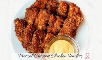 Pretzel Covered Chicken Tenders