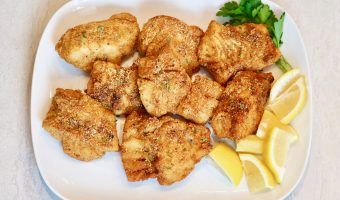 Double Cornmeal Crusted Cod Fish